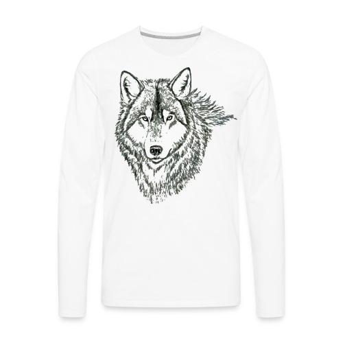 WOLF LONG SLEEVE TSHIRT - Men's Premium Long Sleeve T-Shirt