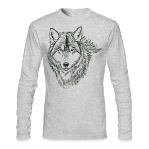 WOLF LONG SLEEVE TSHIRT - Men's Long Sleeve T-Shirt by Next Level