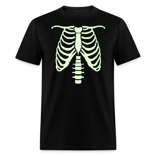 mens glow ribcage skeleton tee - Men's T-Shirt