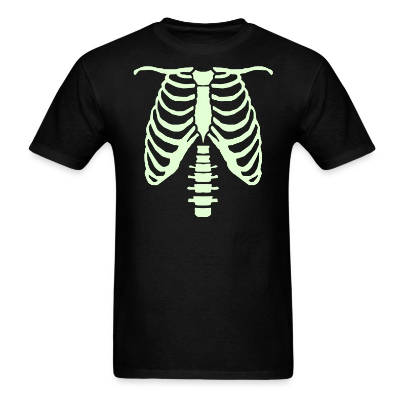 mens glow ribcage skeleton tee - Men's T-Shirt