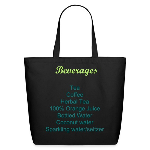Labeled Beverages Grocery Shopping Bag - Eco-Friendly Cotton Tote