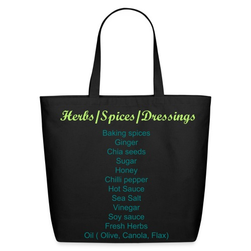 Labeled Herbs/Spices/Dressings Grocery Shopping Bag - Eco-Friendly Cotton Tote