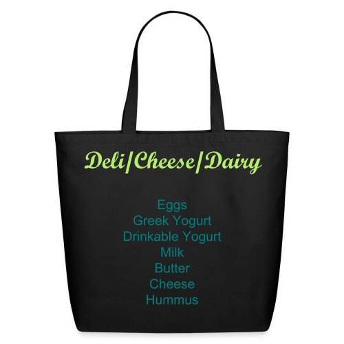 Labeled Deli/Cheese/Dairy Grocery Shopping  Bag - Eco-Friendly Cotton Tote