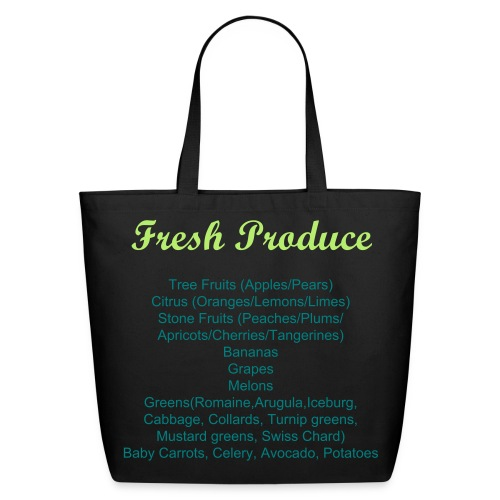 Labeled Fresh Produce Grocery Shopping Bag - Eco-Friendly Cotton Tote