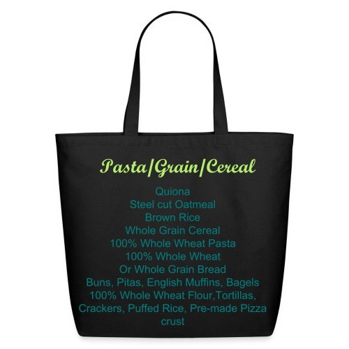 Labeled Pasta/Grain/Cereal Grocery Shopping Bag - Eco-Friendly Cotton Tote