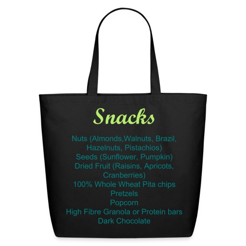 Snacks Grocery Shopping Bag - Eco-Friendly Cotton Tote