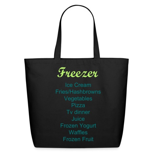 Labeled Freezer Grocery Shopping Bag - Eco-Friendly Cotton Tote