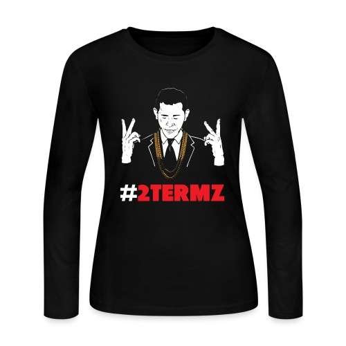 #2 TERMZ OBAMA (WOMEN) - Women's Long Sleeve Jersey T-Shirt