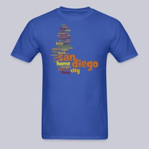 San Diego Words - Men's T-Shirt