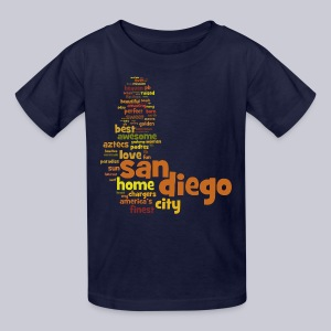 San Diego Words - Kids' T-Shirt
