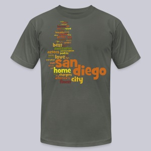 San Diego Words - Men's T-Shirt by American Apparel