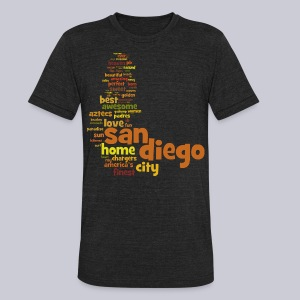 San Diego Words - Unisex Tri-Blend T-Shirt by American Apparel