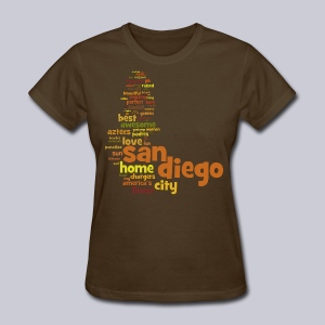 San Diego Words - Women's T-Shirt