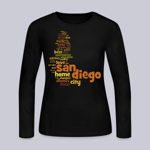 San Diego Words - Women's Long Sleeve Jersey T-Shirt