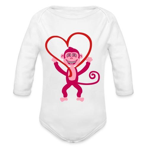 Monkey Love Onsie - Organic Long Sleeve Baby Bodysuit