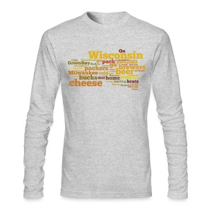 Wisconsin Words - Men's Long Sleeve T-Shirt by Next Level