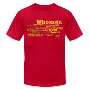 Wisconsin Words - Men's T-Shirt by American Apparel