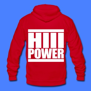 HiiiPOWER Zip Hoodies/Jacket - stayflyclothing.com - Unisex Fleece Zip Hoodie by American Apparel