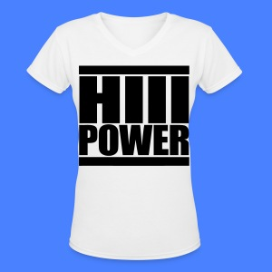 HiiiPOWER Women's T-Shirts - stayflyclothing.com - Women's V-Neck T-Shirt