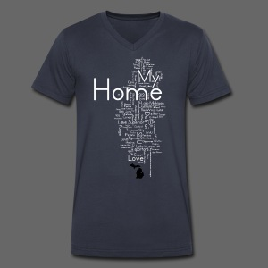 My Home - Men's V-Neck T-Shirt by Canvas