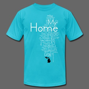 My Home - Men's T-Shirt by American Apparel