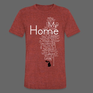 My Home - Unisex Tri-Blend T-Shirt by American Apparel