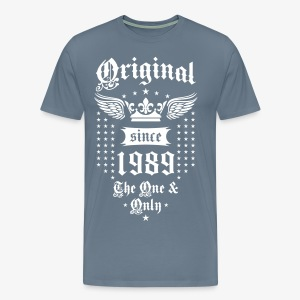 Original Since 1989 The One and Only Crown Wings T-Shirt - Men's Premium T-Shirt