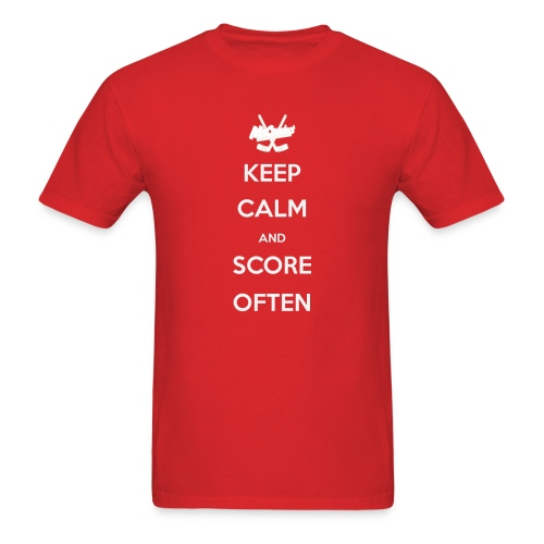 Keep Calm and Score Often - men's T - Men's T-Shirt