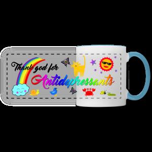 Thank god for Antidepressants Mug - Panoramic Mug
