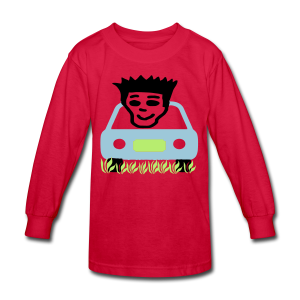 Cruzing in the yard - Kids' Long Sleeve T-Shirt