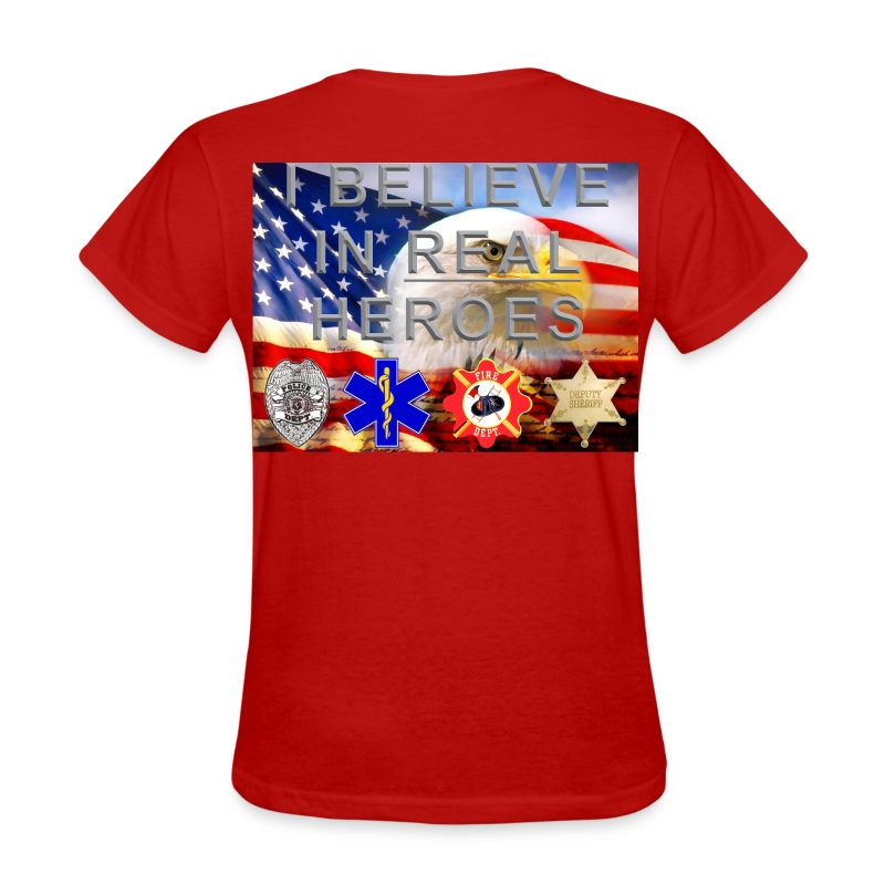 real heroes mil civ f - Women's T-Shirt