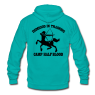 Zip Hoodies & Jackets ~ Unisex Fleece Zip Hoodie by American Apparel ~ DEMIGOD IN TRAINING Centaur Half-Blood Hoodie
