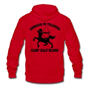 DEMIGOD IN TRAINING Centaur Half-Blood Hoodie - Unisex Fleece Zip Hoodie by American Apparel