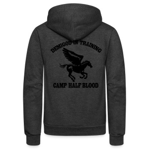 DEMIGOD IN TRAINING Pegasus Half-Blood Hoodie - Unisex Fleece Zip Hoodie by American Apparel