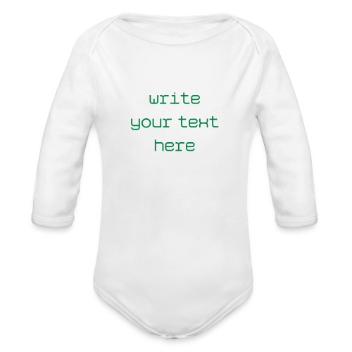 Personalized Baby Onsie - Organic Long Sleeve Baby Bodysuit
