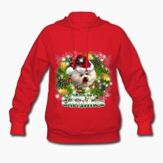 Merry Christmas Bichon Frise Hoodies