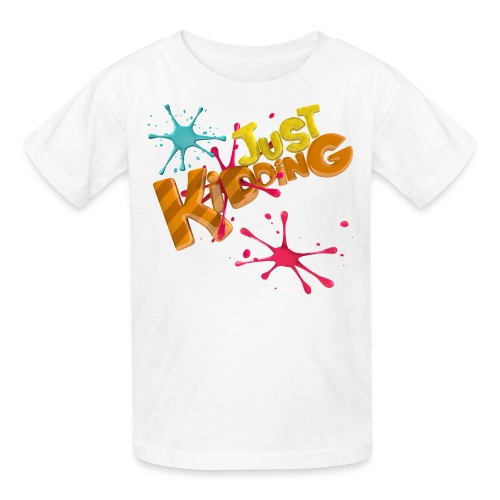 Just Kidding Paint Splat - Kid's T-Shirt - Kids' T-Shirt