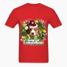 Merry Christmas Brittany Spaniel T-Shirts