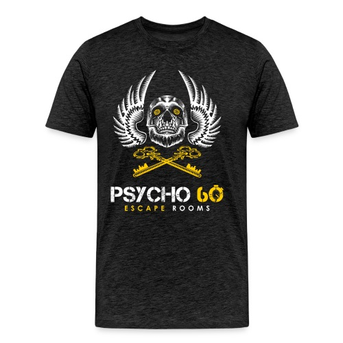 Psycho 60 Skull & Wings - Men's Premium T-Shirt