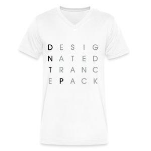 Grid V-Neck (Black/Gray) - Male - Men's V-Neck T-Shirt by Canvas