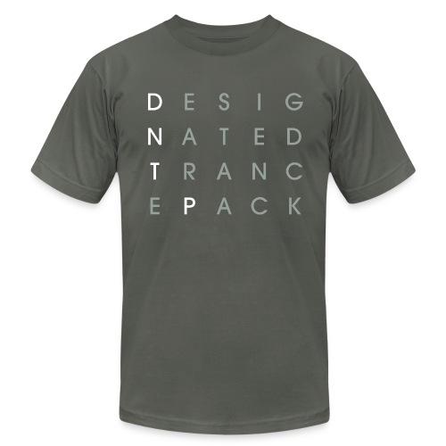 Grid (White/Gray) - Male - Men's Fine Jersey T-Shirt