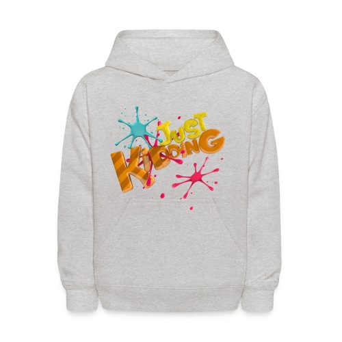 Just Kidding Paint Splat - Kids Hooded Sweatshirt - Kids' Hoodie