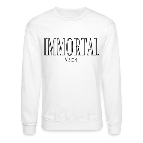 White Crew Neck Immortal Vision  - Crewneck Sweatshirt
