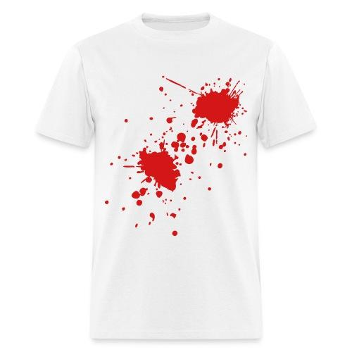 BLOOD SPLATTER on White T-Shirt - Men's T-Shirt