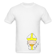 T-Shirts ~ Men's T-Shirt ~ Chibi Church - St. John Paul II