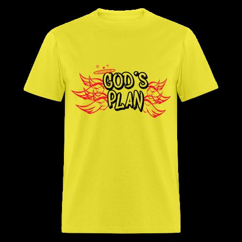 God's Plan Red Wings - Men's T-Shirt