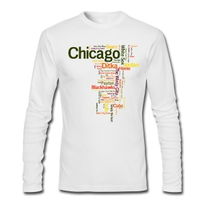 Chicago Words - Men's Long Sleeve T-Shirt by Next Level