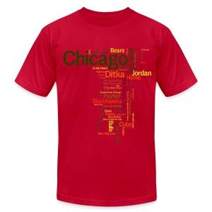 Chicago Words - Men's Fine Jersey T-Shirt