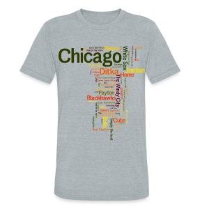 Chicago Words - Unisex Tri-Blend T-Shirt