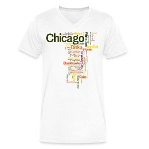 Chicago Words - Men's V-Neck T-Shirt by Canvas